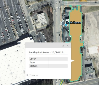 GoTriangle had designated this area parking lots, overtaking the Volkswagen dealership to the north and this stretch with a Wendy's and the Cook Out restaurant. Source: GoTriangle