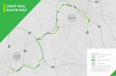 Light rail 2017. Source: GoTriangle